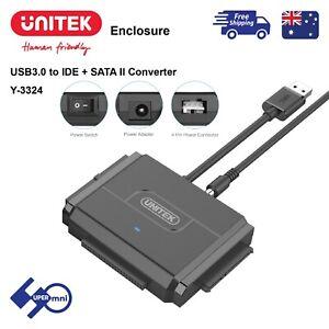 "USB3.0 to 2.5""/3.5"" SATA IDE HDD/SSD Converter Hard Drive Adapter Unitek Y-3324"