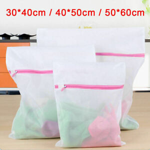 3pcs Zipped Laundry Washing Mesh Net Bra Sox Underwear Washing Machine Wash Bags