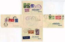 1937 AIR FRANCE LETTERCARD ROUND THE WORLD TOUR PARIS RIO NY HONGKONG EXHIBITION