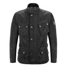 Blousons noir coton ciré pour motocyclette Homme