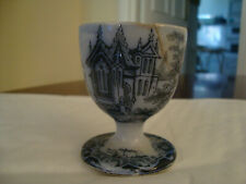 More details for antique ceramic pearl ware blue and white transfer egg cup  20/127