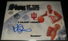 Calbert Cheaney 2013-14 SP Authentic SIGN OF THE TIMES Autograph Card