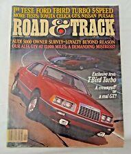 Road & Track Jan.'83: Ford T-Bird, Toyota Celica GT-S, Nissan Pulsar, BMW Alpina