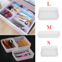 Plastic Drawer Organizer Kitchen Cutlery Dresser Cosmetics Desktop Storage Boxes