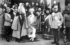 1922 Photo Crown Prince Carol II, King Ferdinand I and Queen Mary of Romania