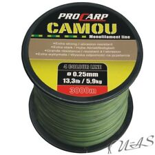 Pro Carp Black Karpfenschnur 1200m 9,2kg Monofilschnur Angelschnur 0,33mm