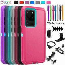 For Samsung Galaxy S20 Plus S20 Ultra 5G Shockproof Case Cover w/ Accessories