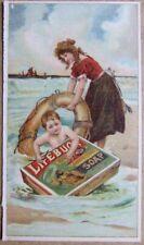 Lifebuoy Soap magazine insert. c1905. Chromlith.