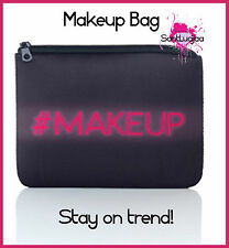 MAKEUP BAG PURSE WALLET #MAKEUP GIRLY BLACK WITH PINK TWITTER INSTAGRAM FASHION