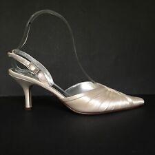 Belle Granate 40% de descuento Marfil Seda Cuero Forrados Dyeable Cristal UK 4 Zapatos de novia