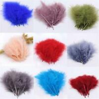100 pcs Feathers Marabou 2-4 Inch Sewing Craft Wedding Party Decorations Lot new