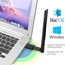 USB WiFi Dongle Adapter 1200Mbps Wireless Network For computer PC Antenna~
