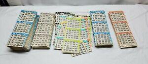 Vintage Bingo Card Paper Ticket Sheet Lot American Games Inc. Square Number Book