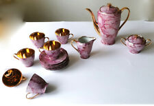 Cmielow modernist  pink with gilding coffee set