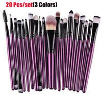 20Pcs Makeup Brushes Kit Set Powder Foundation Eyeshadow Eyeliner Lip Brushes