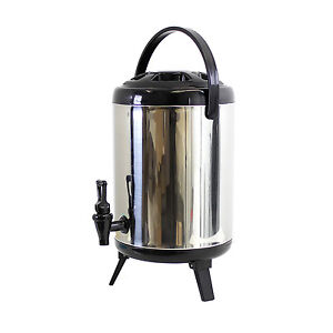 Cheftor Heavy Duty Insulated Stainless Steel Water Beverage Cooler Dispenser