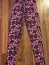 Pink Leopard Leggings One Size Fits Sizes all 3 - 14 Fits Small, Medium & Large