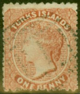 Turks & Caicos Is 1879 1d Dull Red SG5 Fine Used