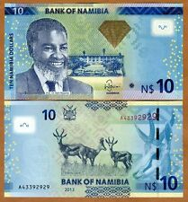 Namibia, 10 dollars, 2013, Pick 11 (11b), UNC > Antelopes