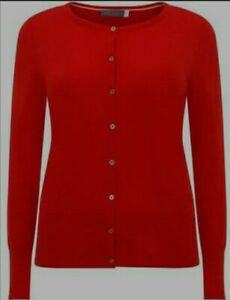 Mint Velvet Womens Smart Work Party Red Scrub Cardigan Sz 14~Immaculate