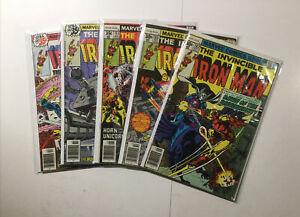 Iron Man 102 103 113 116 117 Lot Run Set Very Fine Vf 8.0 Marvel