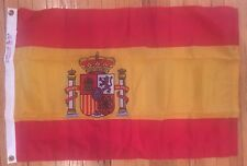 Vtg Dettra Duralite Double Stitched Nylon Bunting Flag w Grommets 2'x3' SPAIN