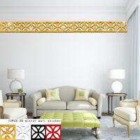 10x/set 3D Mirror Geometry Vinyl Removable Wall Sticker Decal DIY Home Decor-Art