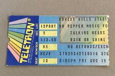 Talking Heads Rare Concert Ticket Stub Forest Hills Tennis Stadium 08/19/1983