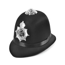 Police Bobby Hat Satin Fabric Copper Fancy Dress Costume Prop