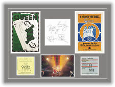 Queen Autographs, Tickets, Concert Posters Memorabilia Poster Brian May UNFRAMED