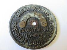 Dreadnought fireproof doors 1930 ltd. serial number plate / badge