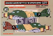 "KORA Models Decals 1/72 SAVOIA MARCHETTI SM.79 SPARVIERO ""ANGELITO CON BOMBA"""