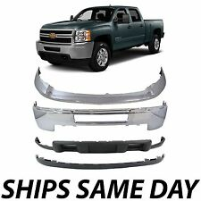 Chrome Steel Bumper Kit For 2011 2014 Chevy Silverado 2500hd 3500hd Without Fog Fits More Than One Vehicle
