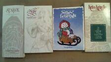 4 Longaberger Pottery Christmas Cookie Molds 1991-93-94-98 Snow Friends Santa