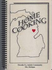 MIO MI 1999 HOME COOKING COOK BOOK OSCODA COUNTY AMISH COMMUNITY * MICHIGAN RARE
