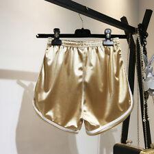 New 2018 Women Shorts Summer Silk Slim Beach Casual Egde Shorts Hot Red