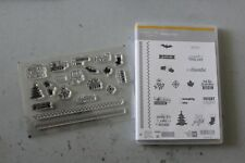 Stampin Up HOLIDAY CHEER Project Life Christmas Halloween Photopolymer NEW Retir