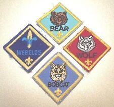 "BSA Boy Scouts of America Scorpion Wolf, Bobcat, Bear & Weblos 4 1.5"" Patches"