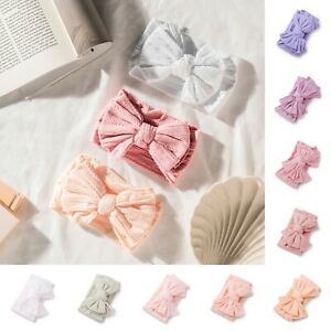 NEW Baby Double Knot Bow Headband Stretchy Soft Girl Infant Toddler Newborn Wrap