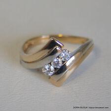 Bague Or 750 18k Trilogie Diamants 3.2 Grs - 52 - Bijoux occasion