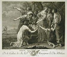 Diego VELASQUEZ Moyse Moïse Sauvé Gravure Nicolas DE LAUNAY Ed Couché 1786