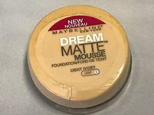MAYBELLINE New York DREAM MATTE MOUSSE FOUNDATION ~ Light Ivory - Light 0 FLAWED