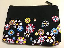 shu uemura MURAKAMI cosmic blossom black pouch NEW 2016 holiday