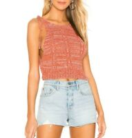 Free People Womens Bombshell Knit Top Capri Orange Size XS