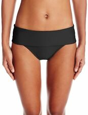 Next Women's Good Karma Powerhouse Banded Retro Bikini Bottom, Black, Small