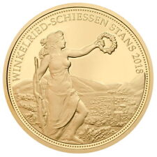 Switzerland 2018 Stans Shooting Festival 500 Swiss Francs Taler Gold Proof