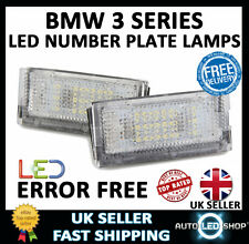 BMW E46 4 DOOR SALOON WHITE SMD LED NUMBER PLATE LAMP LIGHT BULB UPGRADE UNITS