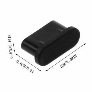 3x USB TYPE-C ANTI-DUST PLUG BLACK SILICONE STOPPER for Motorola Moto Z2 Force