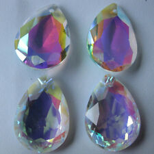 10pcs AB Colorful Glass Crystal Prism Chandelier Lamp Drop Pendants Decor 16*9mm