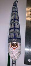2001 Patricia Breen #2198 Bowman Santa, Plaid Blue/Silver, Nm San Francisco